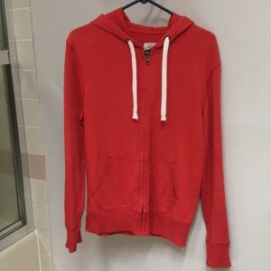 Mossimo Supply Co. Shirts - 🔹Men's Red Zip-Up Hoody w/ White Strings